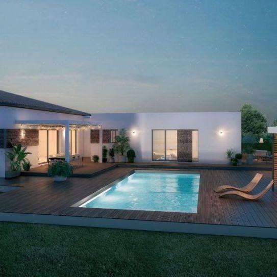 Villa contemporaine 5 pièces 120m2 exposé SUD terrain de 650m2