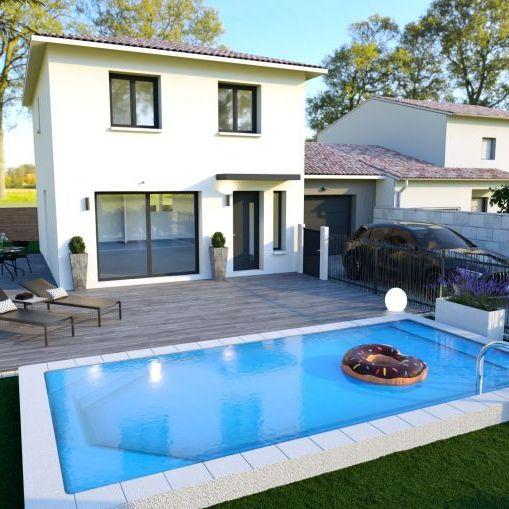 Villa 4 pièces contemporaine sur terrain de 325m2 hors lotissement, exposé SUD