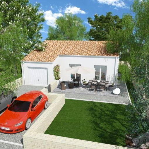 ROUJAN / TERRAIN DE 465 m2 / MAISON DE PLAIN PIED 90 m2 /