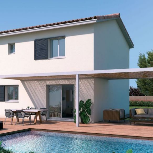 villa contemporaine 4 pièces terrain 300m2  sud ouest