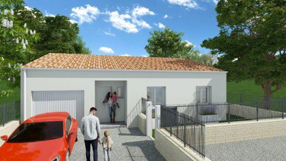 MAISON CONTEMPORAINE DE PLAIN PIED 85 m2 / TERRAIN DE 300 m2 / NISSAN LES ENSERUNE