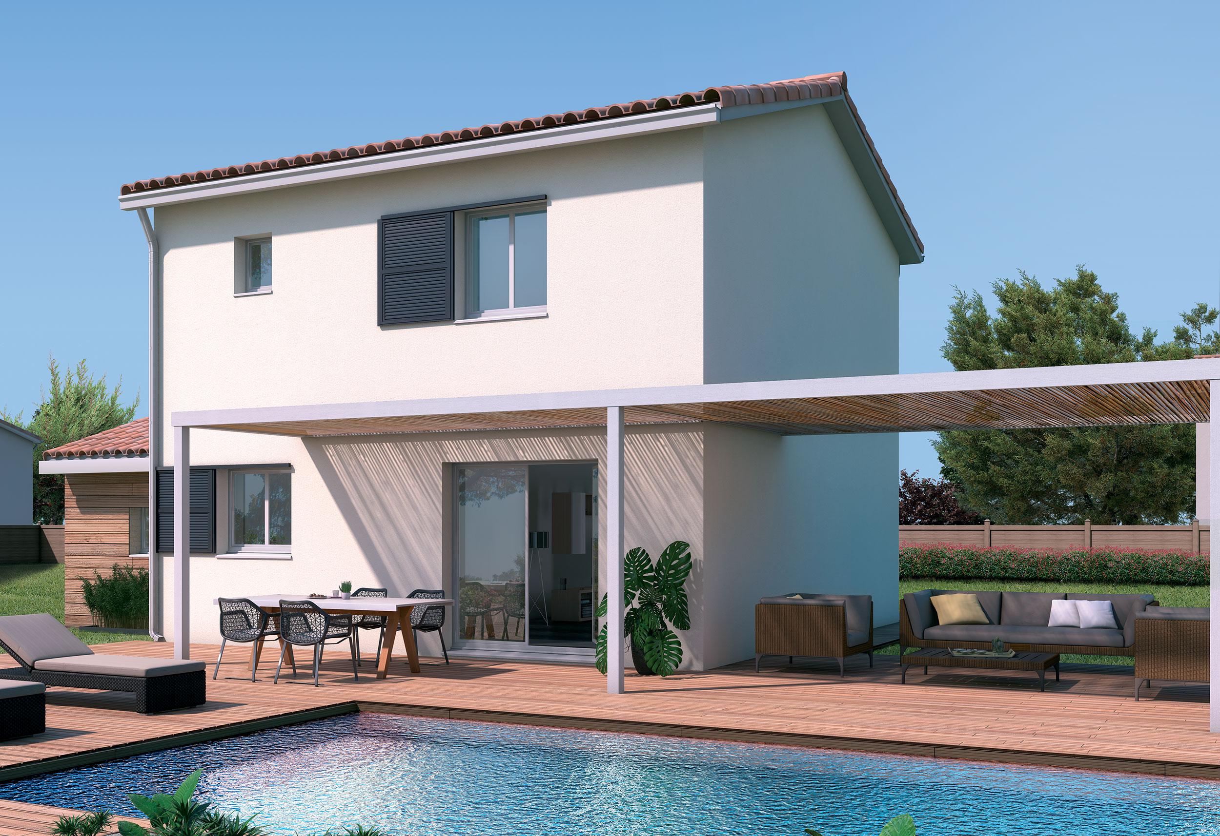 Maison Traditionnelle Etage Urban Avec Plans Maisons Bati France Constructeur Maison Individuelle Languedoc Roussillon