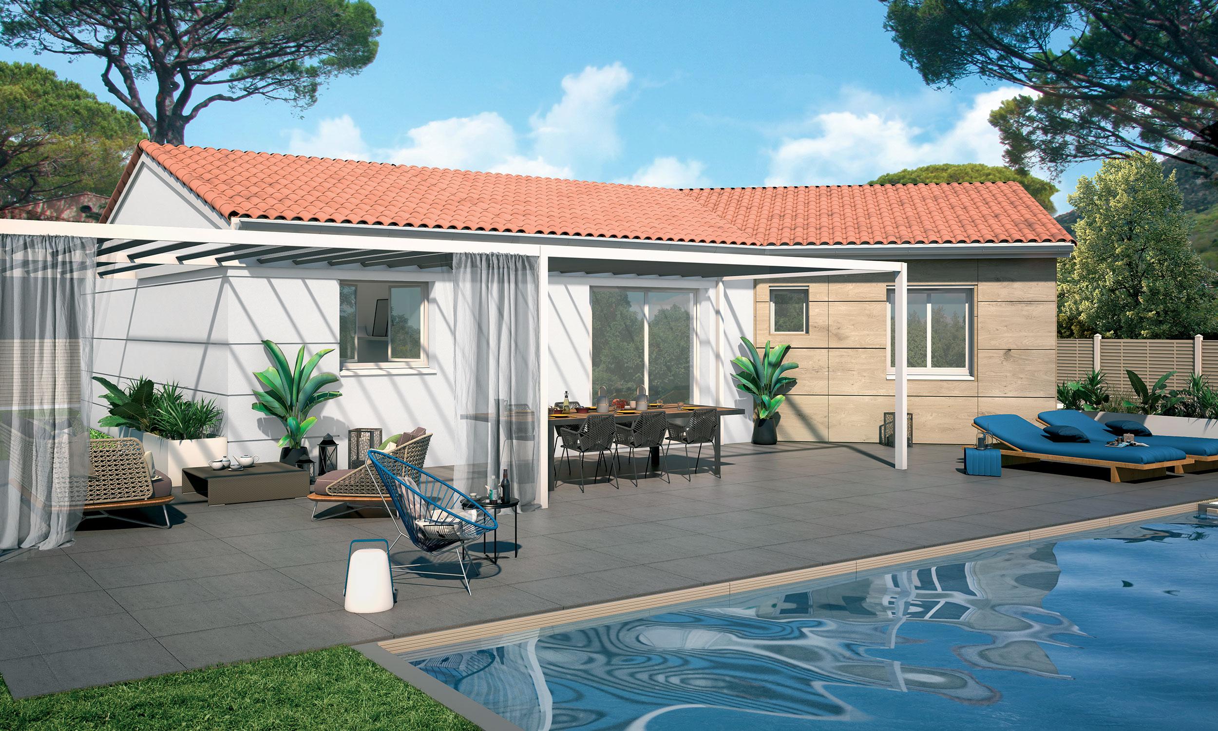 Maison Traditionnelle Plain Pied Cosmo Avec Plans Maisons Bati France Constructeur Maison Individuelle Languedoc Roussillon