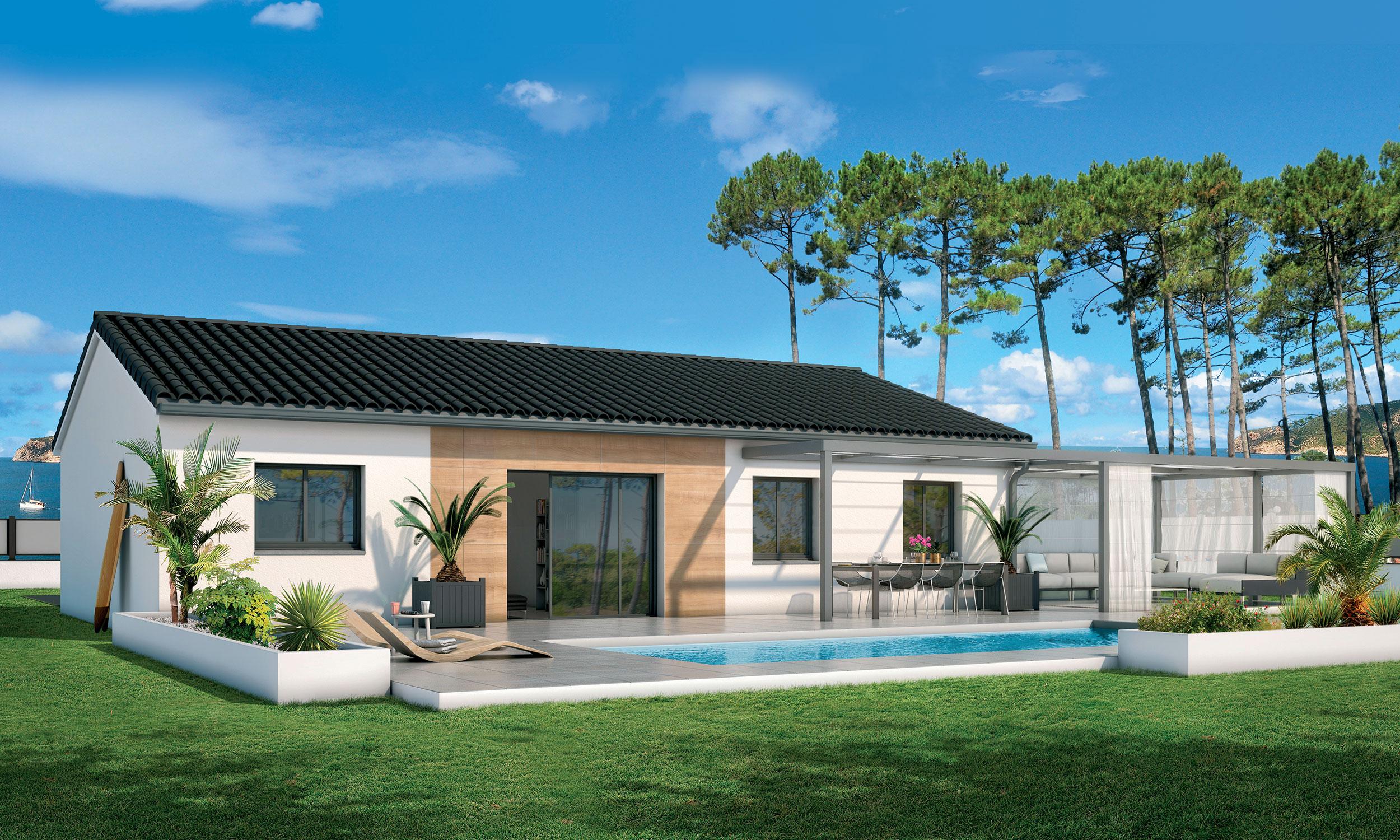 Maison Contemporaine Plain Pied Cosy Avec Plans Maisons Bati France Constructeur Maison Individuelle Languedoc Roussillon