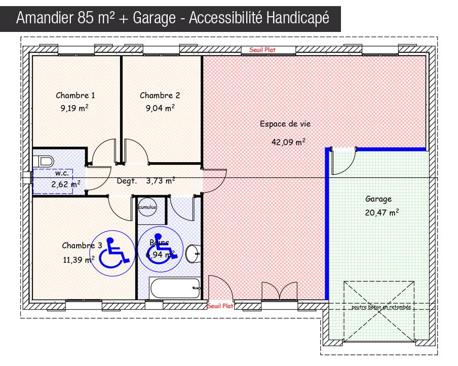 maison mod le maison amandier traditionnelle mod le maison traditionnel maisons bati france. Black Bedroom Furniture Sets. Home Design Ideas