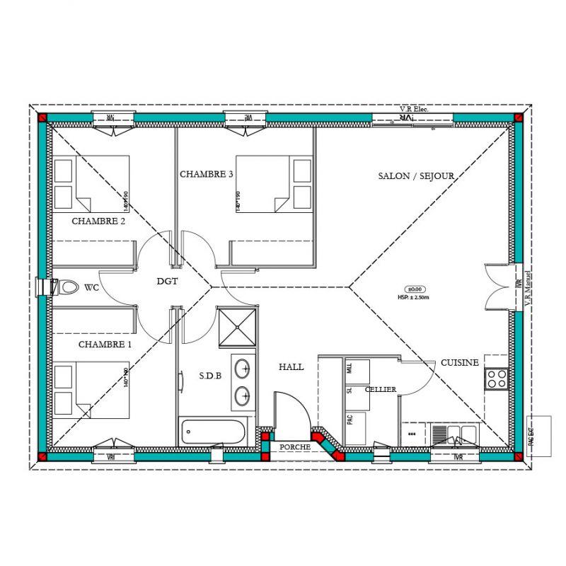 maison mod le magnolia mod le maison contemporain maisons bati france constructeur maison. Black Bedroom Furniture Sets. Home Design Ideas