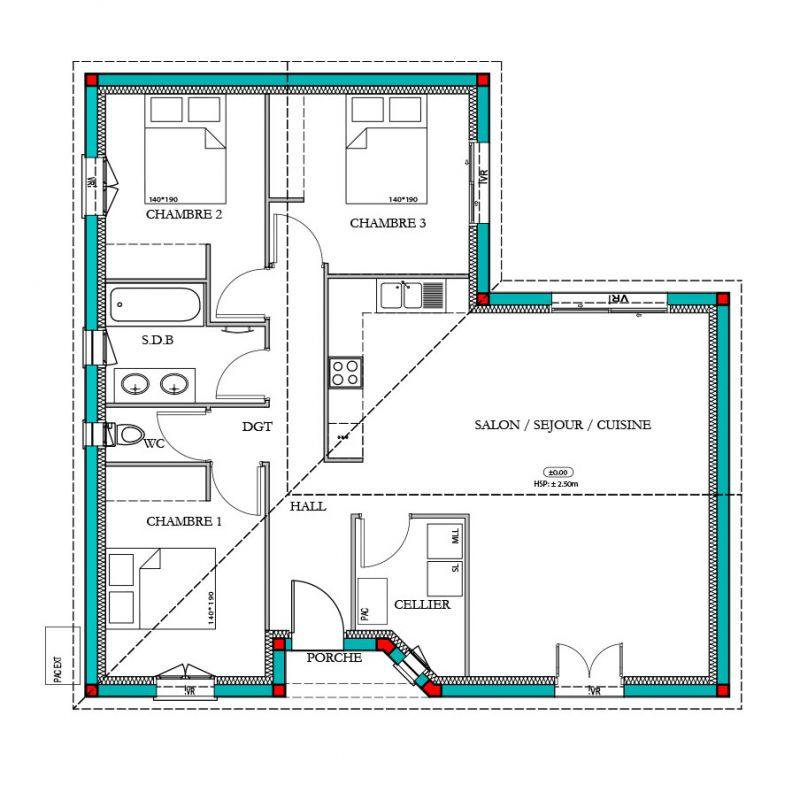 maison mod le mel ze mod le maison traditionnel maisons bati france constructeur maison. Black Bedroom Furniture Sets. Home Design Ideas
