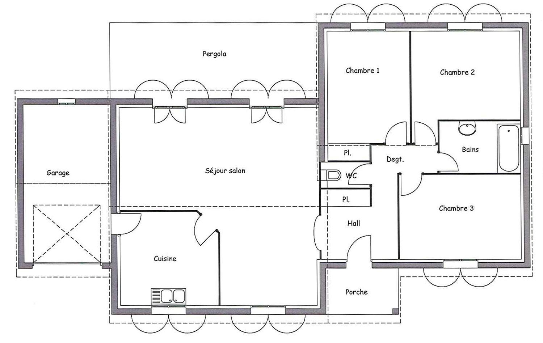 Maison Contemporaine Plain Pied Chene Avec Plans Maisons Bati France Constructeur Maison Individuelle Languedoc Roussillon