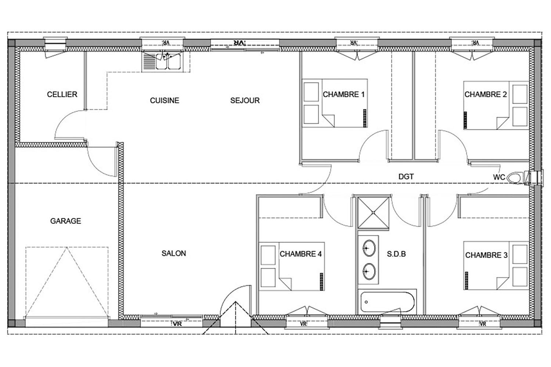 Maison 4 Chambres A Meze 34140 Herault Constructeur Pezenas 34