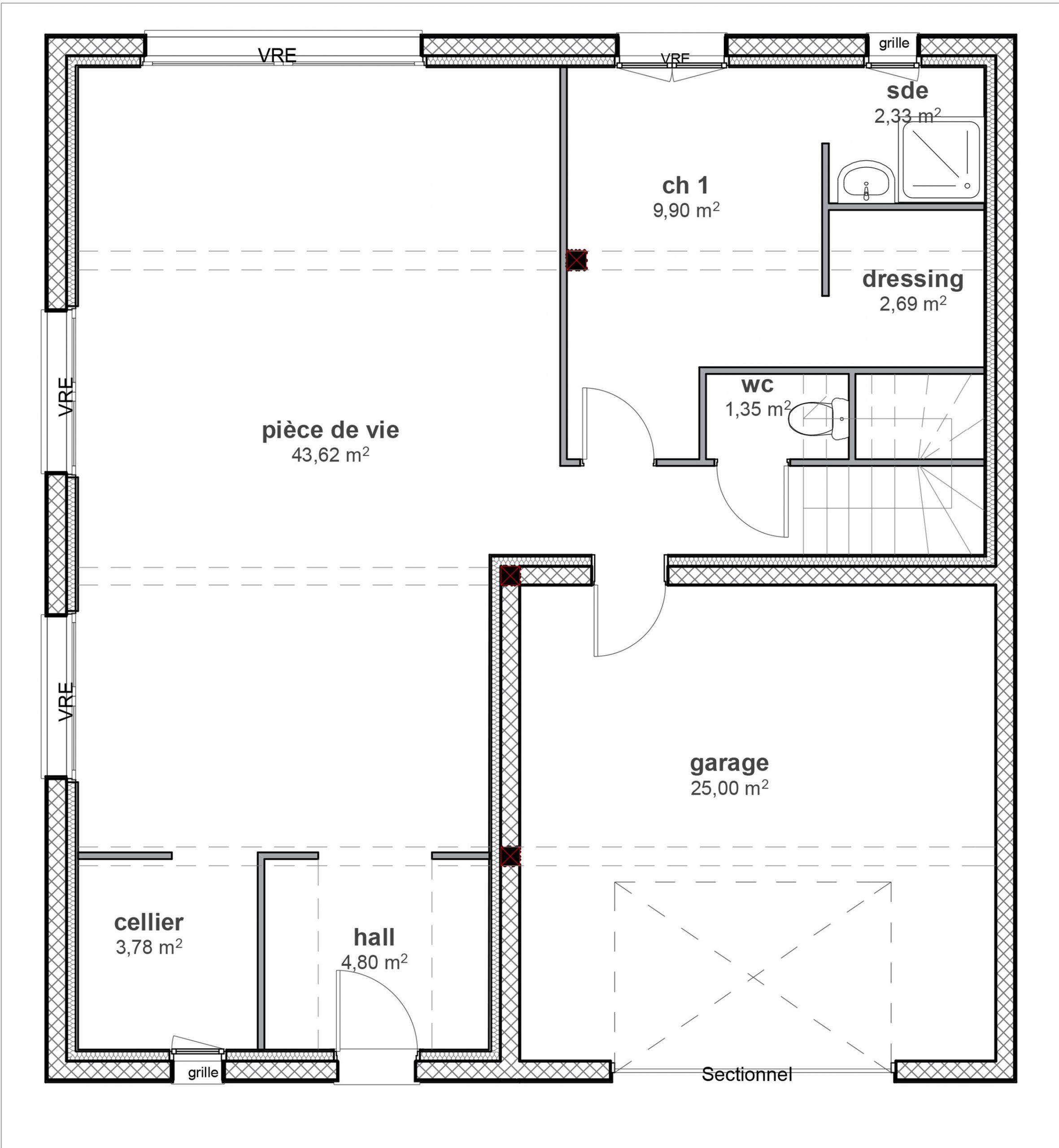 Maison Neuve 110m Restinclieres Herault 34160 Constructeur Lattes 34