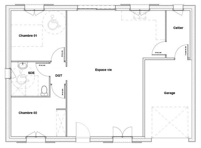 Modèle de maison Goeland - 2 chambres - Maisons Bati-France