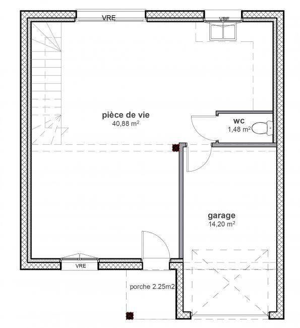 Modèle de maison à étage traditionnelle - 04 Maisons Bati-France
