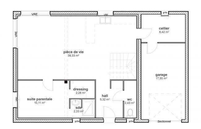 Modèle de maison contemporain à étage - Modèle Life - Maisons Bati-France