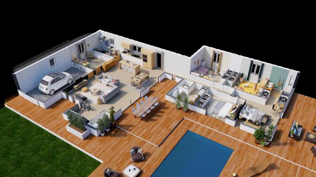 Modèle de maison Ethnic - Décoration buanderie - MBF