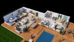 Modèle de maison Ethnic - plan axonometrique - MBF