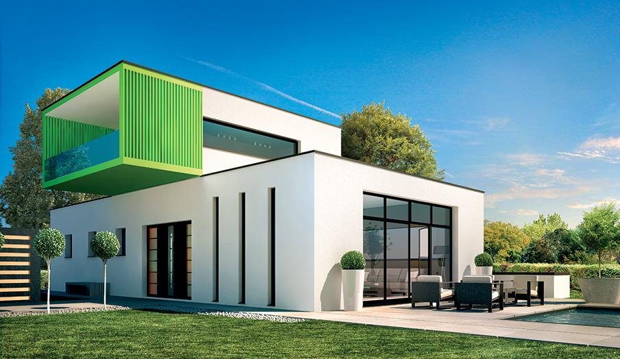 Mod les de maisons contemporaines maisons bati france for Porche de maison en bois