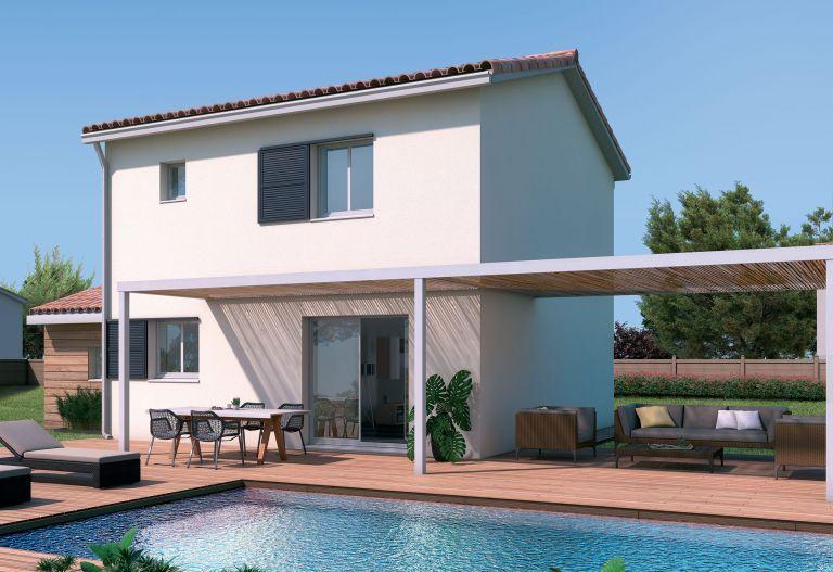 Proche des commodités et des plages, villa neuve t4 sur terrain 3 faces de 310m²