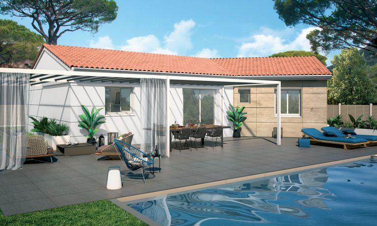 Causses et Veyran  34490 Villa neuve avec jardin