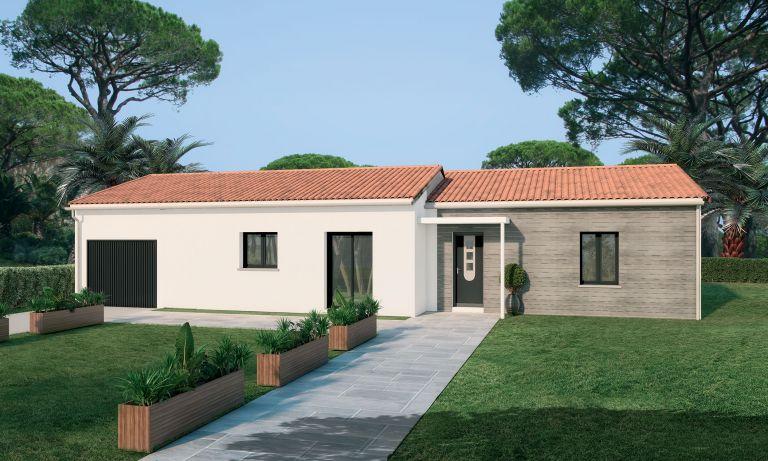 Cessenon villa 2 chambres + garage + jardin