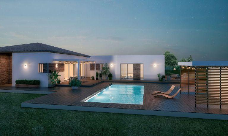 Cruzy maison contemporaine de 90 m2 sur un terrain de 452 m2