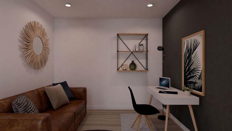 Modèle de maison Boho - decoration bureau - MBF