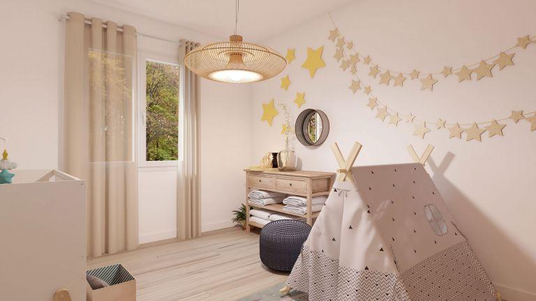 Modèle de maison Boho - decoration chambre bébé - MBF