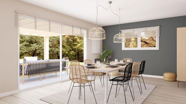Modèle de maison Boho - decoration salle à manger terrasse - MBF
