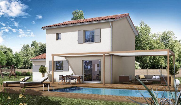 St André, villa neuve t4 à bâtir sur terrain en 3 faces.